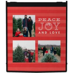Thumbnail for Reusable Grocery Bag with Peace and Stripes design 1