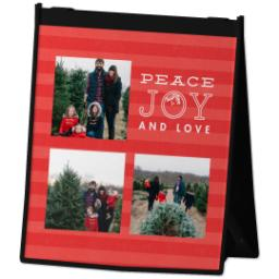 Thumbnail for Reusable Grocery Bag with Peace and Stripes design 2