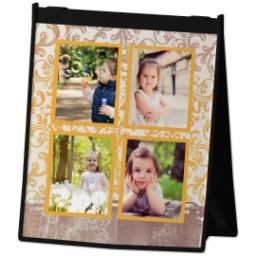 Thumbnail for Reusable Grocery Bag with Vintage Aviary design 2