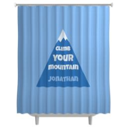 Thumbnail for Photo Shower Curtain with Climb Your Mountain design 1