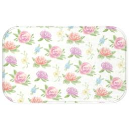 Thumbnail for Photo Bath Mat with Cream Floral design 1