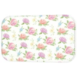 Thumbnail for Photo Bath Mat with Cream Floral design 2