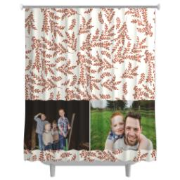 Thumbnail for Photo Shower Curtain with Foliage Photo design 1