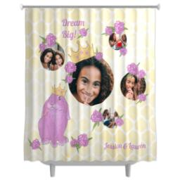 Thumbnail for Photo Shower Curtain with Princess Bunny - Dream Big design 1