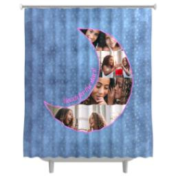 Thumbnail for Photo Shower Curtain with Reach for the Stars - Moon design 1