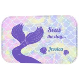Thumbnail for Photo Bath Mat with Seas the Day - Mermaid design 2