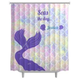 Thumbnail for Photo Shower Curtain with Seas the Day - Mermaid design 1