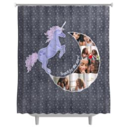 Thumbnail for Photo Shower Curtain with Unicorn Moon design 1