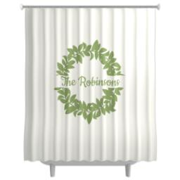 Thumbnail for Photo Shower Curtain with Wreath design 1