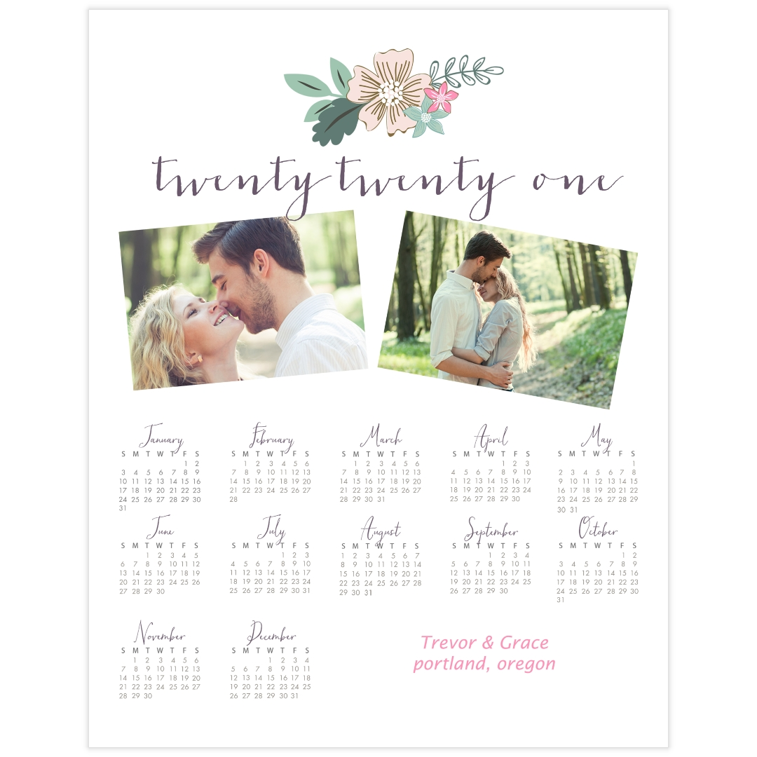 You might get fed up with the traditional calendar which is simple and tedious. From now on, you will like the feeling of looking at the wall calendar because your pictures are on it (literally). This custom calendar printing turns out really cute and is sure to be a great anniversary gift for husband, wife, boyfriend, girlfriend, or any couple in your life. Every time you check the calendar, it reminds you of your love.