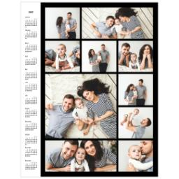 Thumbnail for Collage Poster Calendar, 11x14, Matte Photo Paper with 2021 Custom Color Collage Calendar Poster design 1