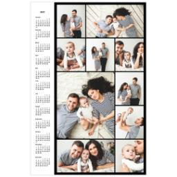 Thumbnail for Collage Poster Calendar, 20x30, Glossy Photo Paper with 2021 Custom Color Collage Calendar Poster design 1