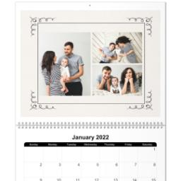 Thumbnail for 11x14, 18 Month Deluxe Photo Calendar with Art Deco design 1