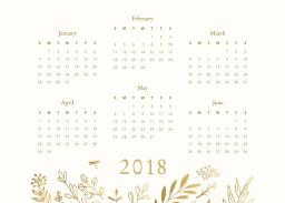 Thumbnail for 5x7 Scalloped Card Stock (Set Of 20) with Firefly Calendar design 2