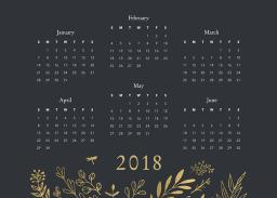 Thumbnail for 5x7 Elegant Card Stock (Set Of 20) with Firefly Calendar design 3