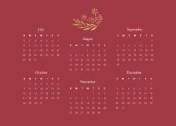 Thumbnail for 5x7 Scalloped Card Stock (Set Of 20) with Firefly Calendar design 5