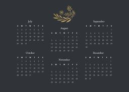 Thumbnail for 5x7 Scalloped Card Stock (Set Of 20) with Firefly Calendar design 6