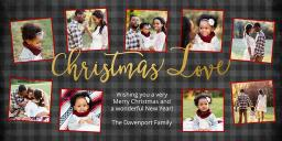 Thumbnail for 1 Hour 4x8 Greeting Card (Set Of 20) with Christmas Love design 1