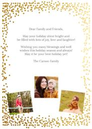 Thumbnail for 5x7 Greeting Card, Matte, Printed Envelope with Golden Merry design 2