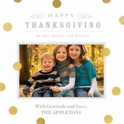 Thumbnail for 5x5 Card Stock with Golden Days Thanksgiving design 1