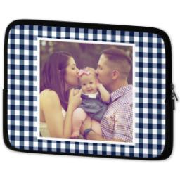 Thumbnail for Laptop Case with Blue Checkered design 2
