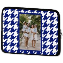 Thumbnail for Laptop Case with Blue Houndstooth design 2