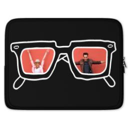 Thumbnail for Laptop Case with BW Hipster design 1