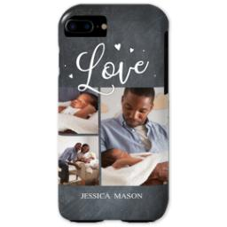 Thumbnail for iPhone 7 Tough Case with Chalkboard Love Script design 1