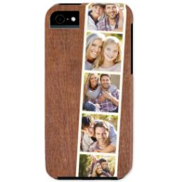 Thumbnail for iPhone 5 Custom Photo Case-Mate Tough Case with Woodgrain Film Strip design 1