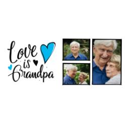 Thumbnail for Premium Grande Photo Mug with Lid, 16oz with Grandpa Hearts design 2