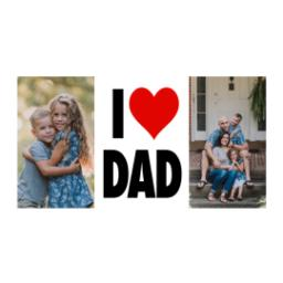 Thumbnail for Premium Grande Photo Mug with Lid, 16oz with I Heart Dad design 2