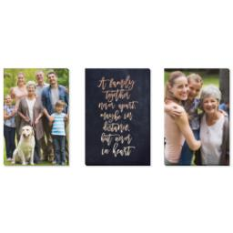 "Thumbnail for 3 Piece Canvas Cluster (24"" x 52"") with Three Of A Kind: A Family Together design 1"