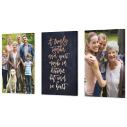 "Thumbnail for 3 Piece Canvas Cluster (24"" x 52"") with Three Of A Kind: A Family Together design 2"