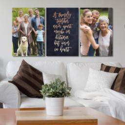 "Thumbnail for 3 Piece Canvas Cluster (24"" x 52"") with Three Of A Kind: A Family Together design 4"