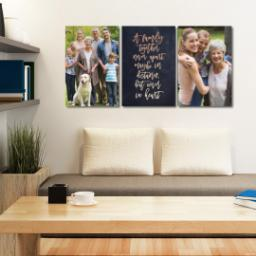 "Thumbnail for 3 Piece Canvas Cluster (24"" x 52"") with Three Of A Kind: A Family Together design 5"