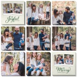 "Thumbnail for 9 Piece Multi-Piece Canvas (31"" x 31"") with Nine Photo Burst: Be Joyful Be Merry design 1"