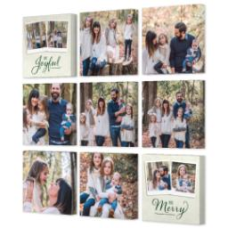 "Thumbnail for 9 Piece Multi-Piece Canvas (31"" x 31"") with Nine Photo Burst: Be Joyful Be Merry design 2"