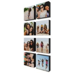 "Thumbnail for 8 Piece Mini Multi-Piece Canvas (26""x 12"") with Sentiment Montage: Black Border design 2"