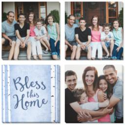 "Thumbnail for 4 Piece Multi-Piece Canvas (34"" x 34"") with Four Square: Bless This Home design 1"
