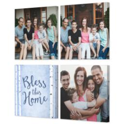 "Thumbnail for 4 Piece Multi-Piece Canvas (34"" x 34"") with Four Square: Bless This Home design 2"