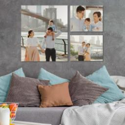 "Thumbnail for 3 Piece Canvas Cluster (24"" x 36"") with Family Trio: Multi Photo design 4"