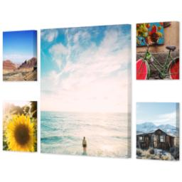 "Thumbnail for 5 Piece Canvas Cluster (24"" x 40"") with Memory Milestones: Multi Photo design 2"