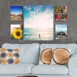 "Thumbnail for 5 Piece Canvas Cluster (24"" x 40"") with Memory Milestones: Multi Photo design 4"