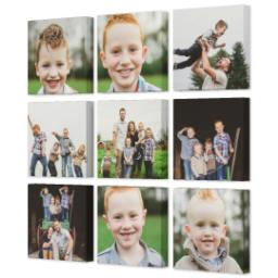 "Thumbnail for 9 Piece Multi-Piece Canvas (31"" x 31"") with Nine Photo Burst: Multi Photo design 2"