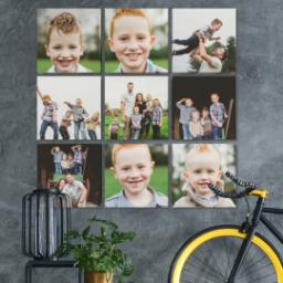 "Thumbnail for 9 Piece Multi-Piece Canvas (31"" x 31"") with Nine Photo Burst: Multi Photo design 4"