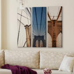 "Thumbnail for 3 Piece Multi-Piece Canvas (36""x 36"") with Grand Window Pane: Multi Photo design 4"
