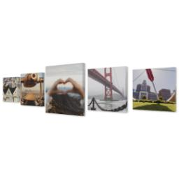 "Thumbnail for 5 Piece Canvas Cluster (16""x 60"") with Picture It Squared: Multi Photo design 2"