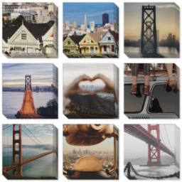 "Thumbnail for 9 Piece Mini Canvas Cluster (19""x 19"") with Fabulous 9 Collection: Multi Photo design 1"
