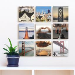"Thumbnail for 9 Piece Mini Canvas Cluster (19""x 19"") with Fabulous 9 Collection: Multi Photo design 4"