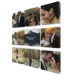 "Thumbnail for 9 Piece Mini Canvas Cluster (19""x 19"") with Fabulous 9 Collection: Collect Moments design 2"